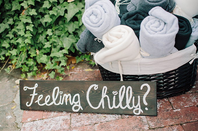 blankets for cold guests | Courtney Stockton Photography | Glamour & Grace