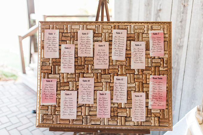 watercolor escort cards | Laura Ann Miller Photography | Glamour & Grace