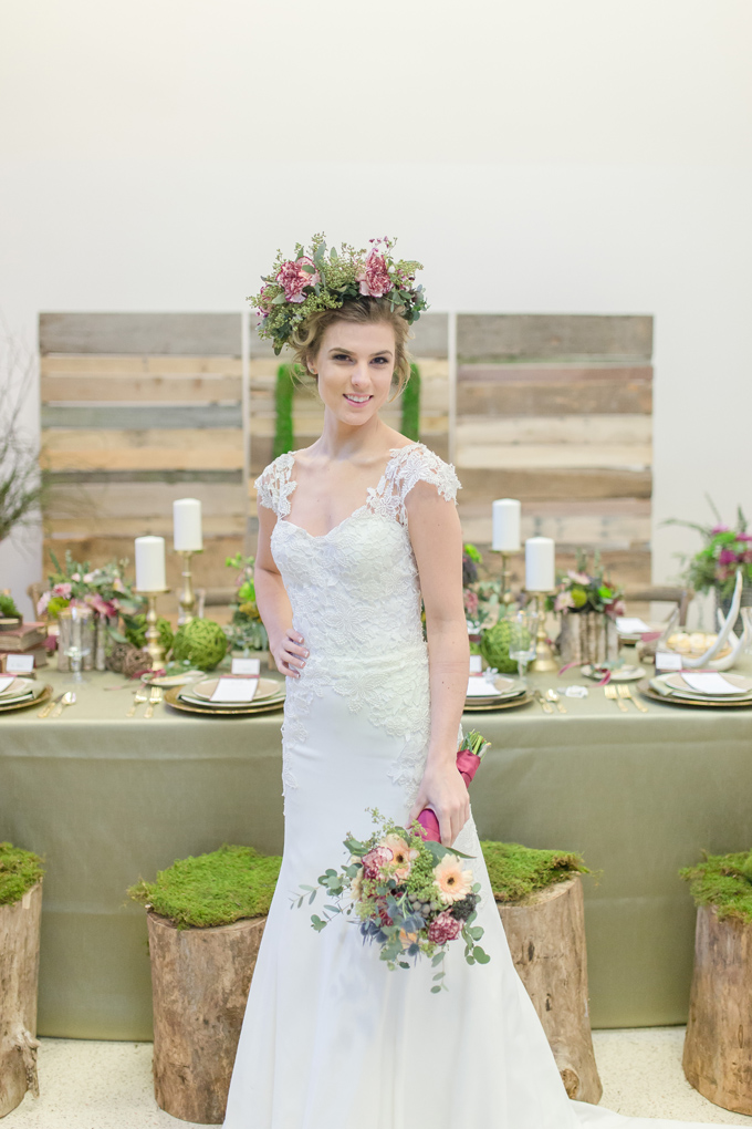 woodlands romance wedding inspiration | Cannon Candids Photography