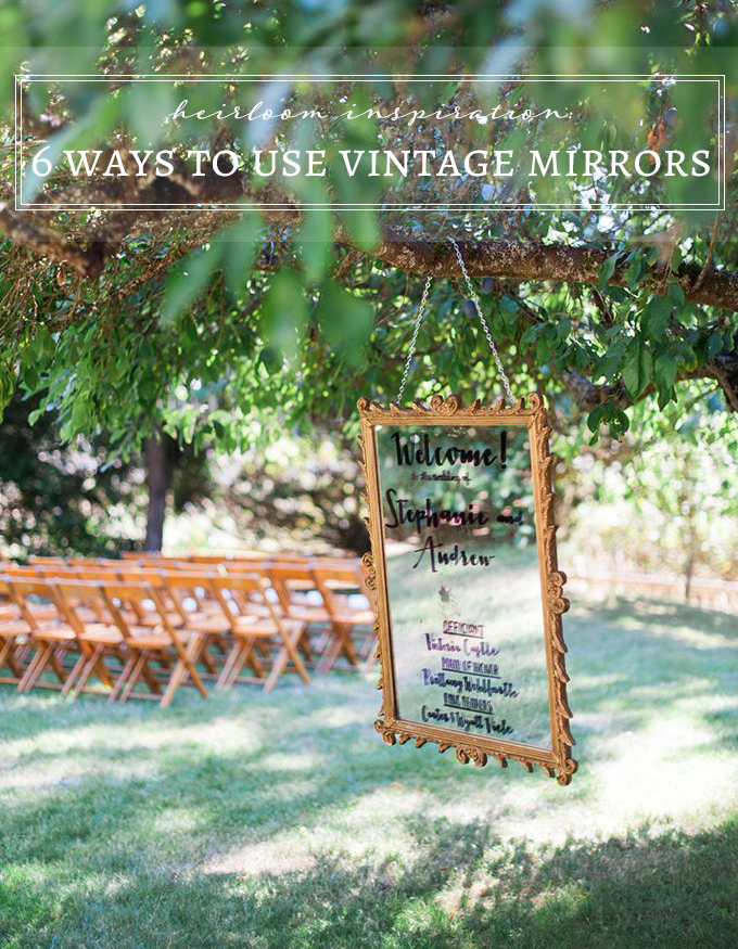 6 ways to use vintage mirrors