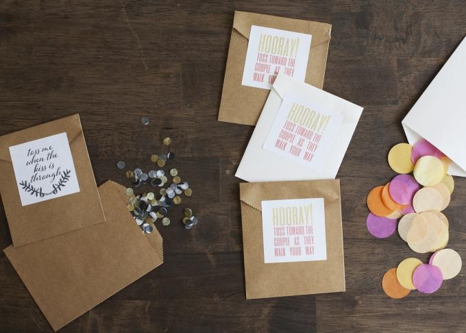 ceremony confetti toss DIY