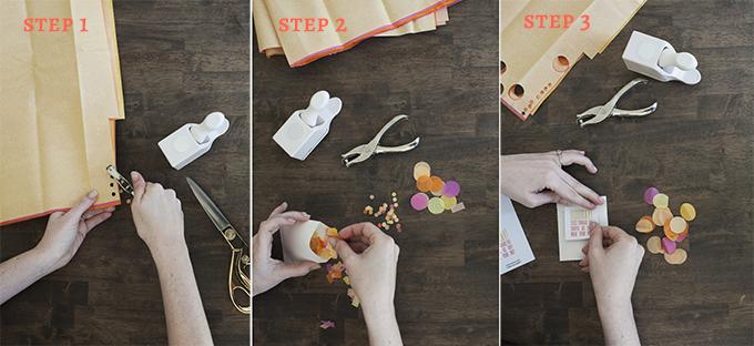 ceremony confetti toss DIY steps
