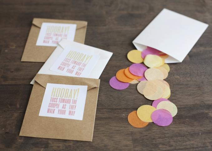 confetti toss DIY