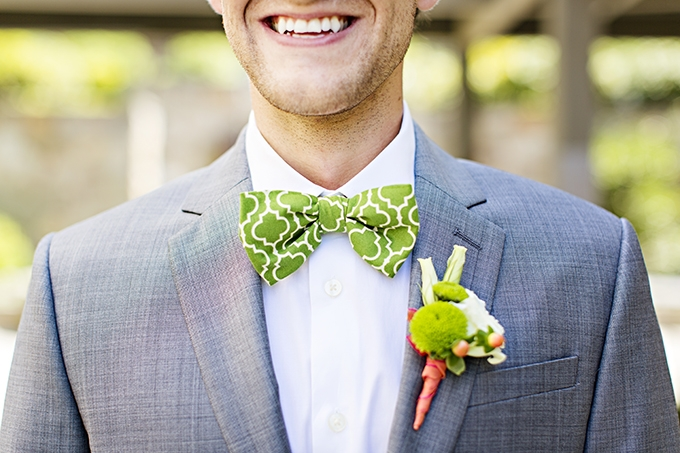lime bow tie | Courtney Bowlden Photography | Glamour & Grace