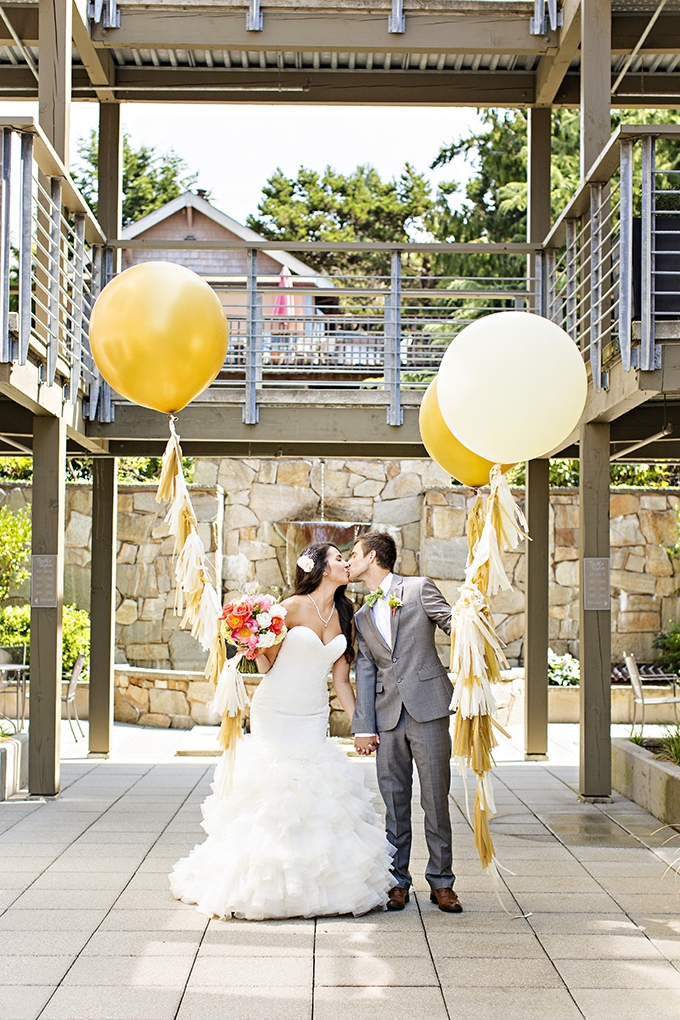 handmade bright green and coral wedding   Courtney Bowlden Photography   Glamour & Grace