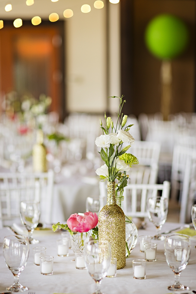 pink, green, and gold centerpieces | Courtney Bowlden Photography | Glamour & Grace