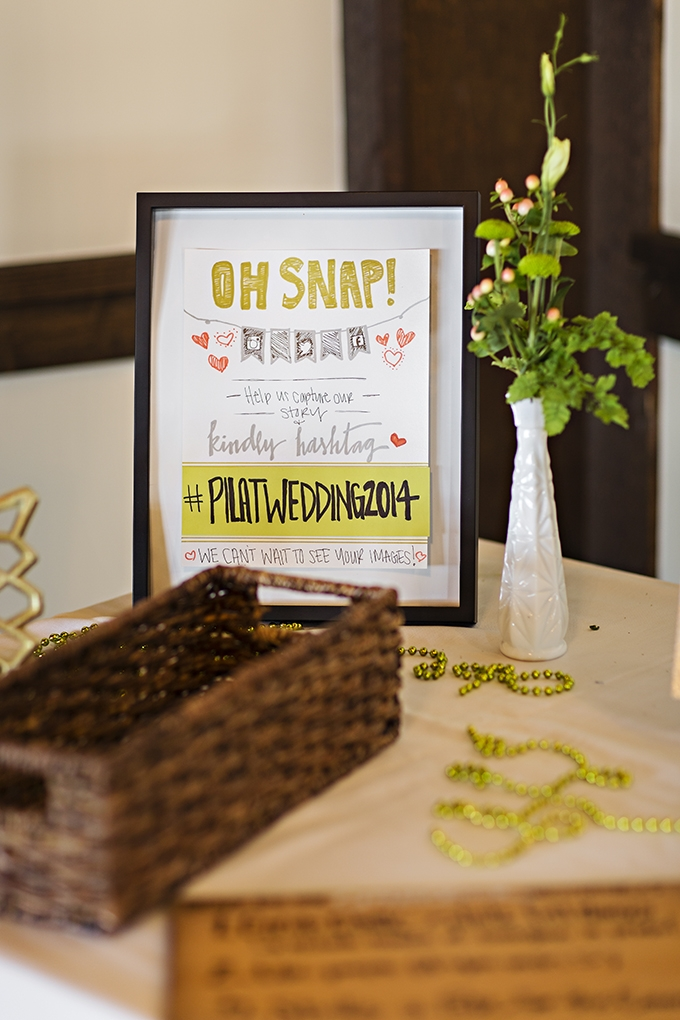 wedding hashtag | Courtney Bowlden Photography | Glamour & Grace