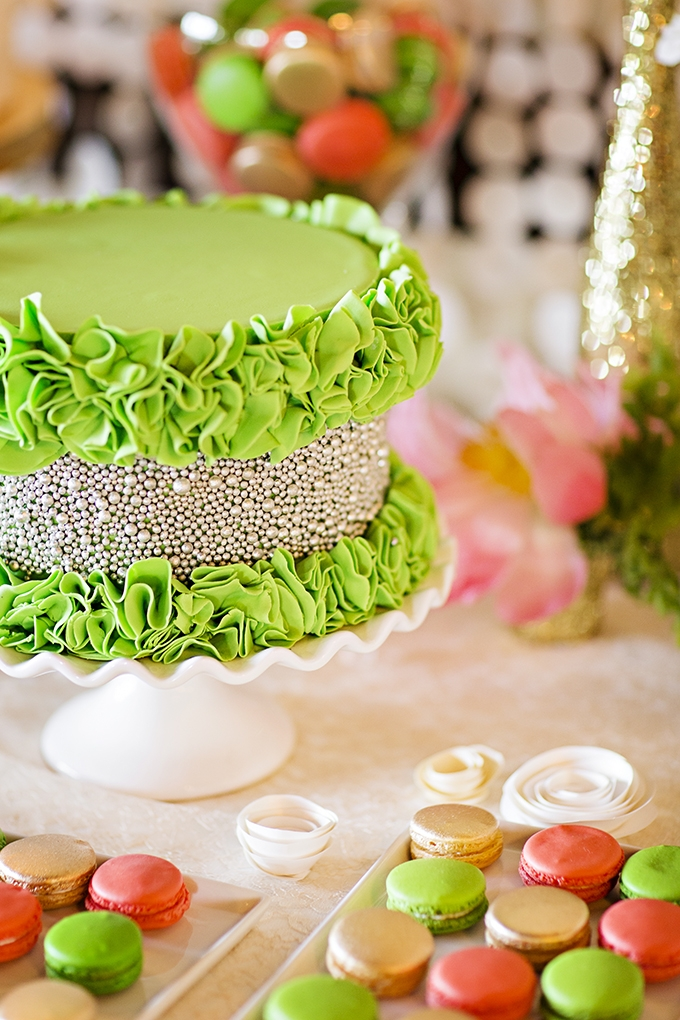 Handmade Bright Green and Coral Wedding | Glamour & Grace