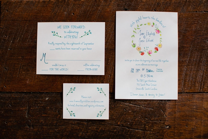 painted invitation | Devon Donnahoo Photography | Glamour & Grace