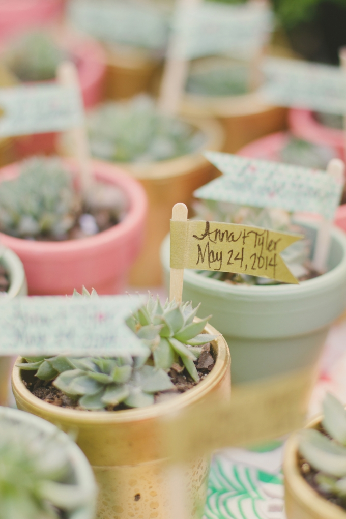 succulent favors | Jessie Holloway Photography | Glamour & Grace