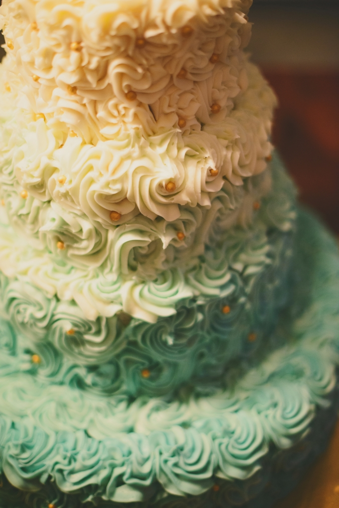ombre cake | Jessie Holloway Photography | Glamour & Grace