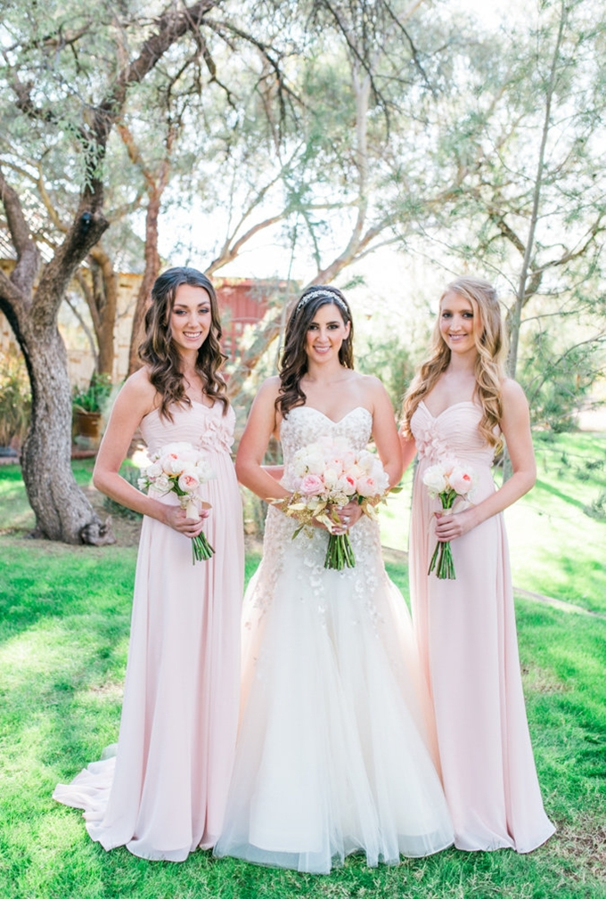 blush bridesmaids | Leslie D Photography | Glamour & Grace