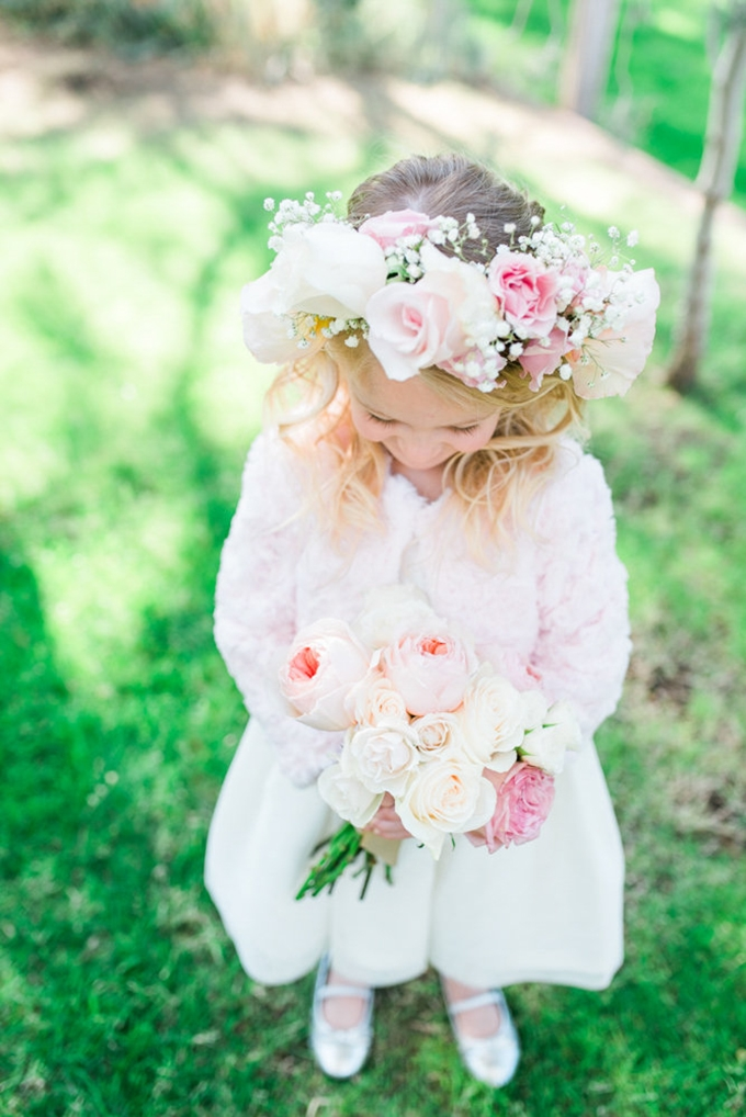 blush flower girl | Leslie D Photography | Glamour & Grace