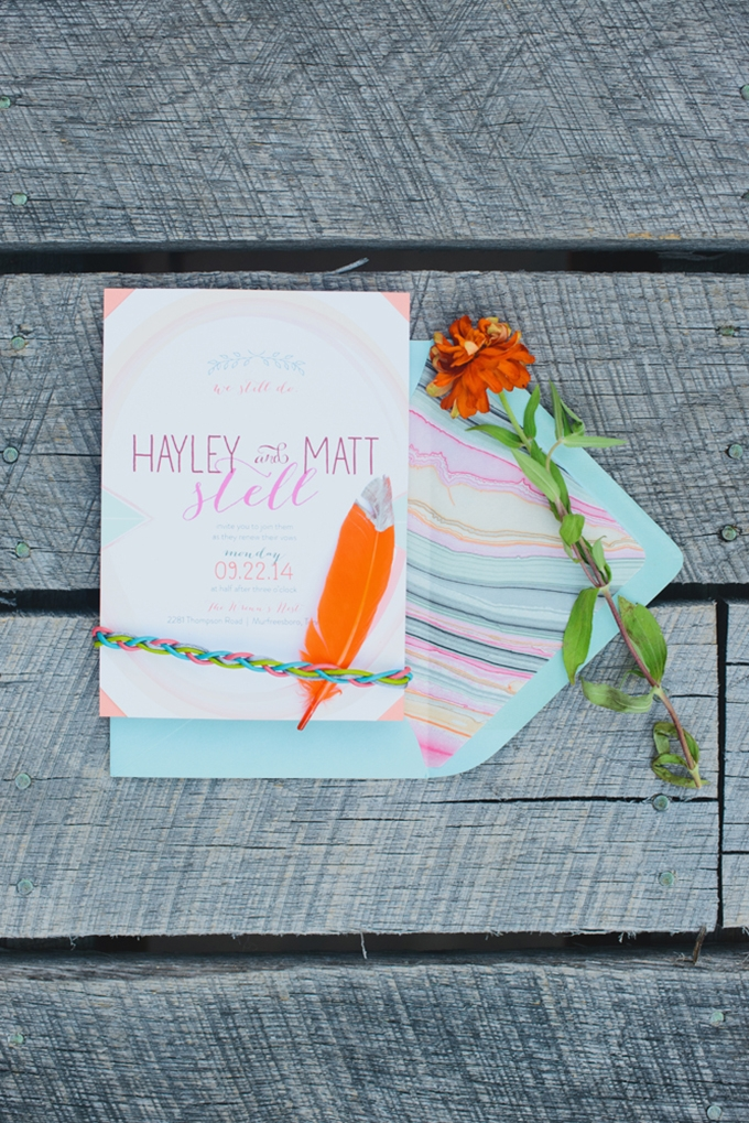 colorful invitation | Jessie Holloway Photography | Glamour & Grace
