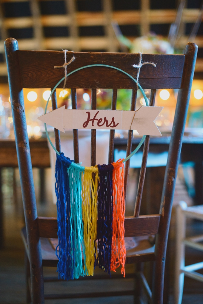 yarn hers chair sign | Jessie Holloway Photography | Glamour & Grace