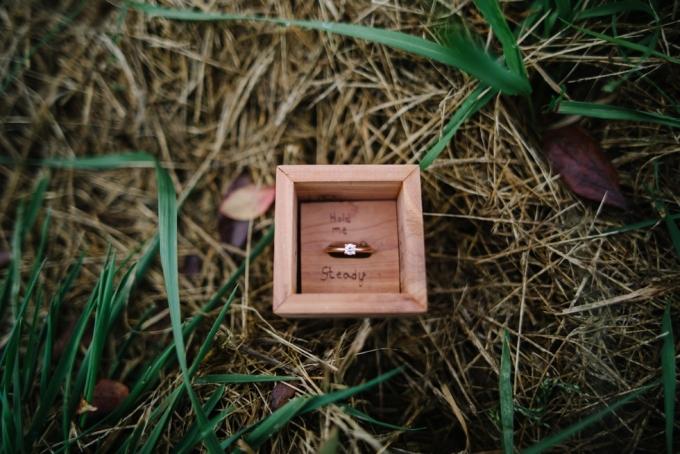 handmade wood ring holder | Lauren Love Photography | Glamour & Grace