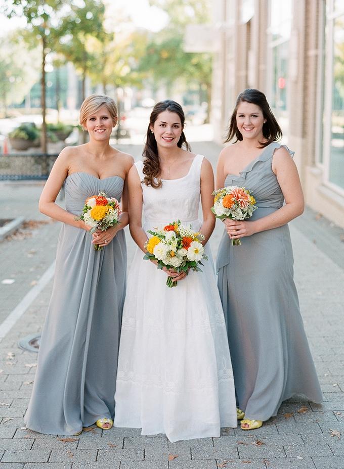gray bridesmaids | Blueberry Creative | Glamour & Grace