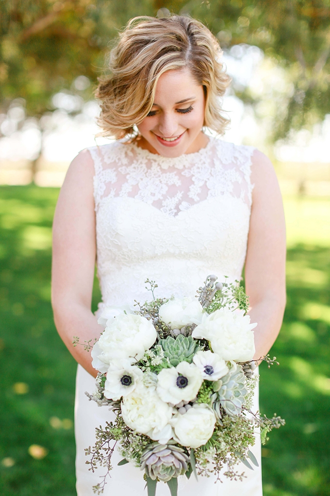 neutral succulent bouquet | Allee J. | Glamour & Grace