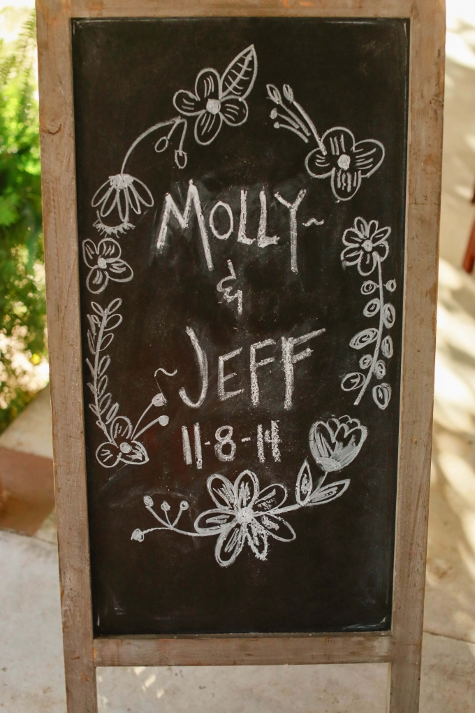 wedding chalkboard sign | Allee J. | Glamour & Grace