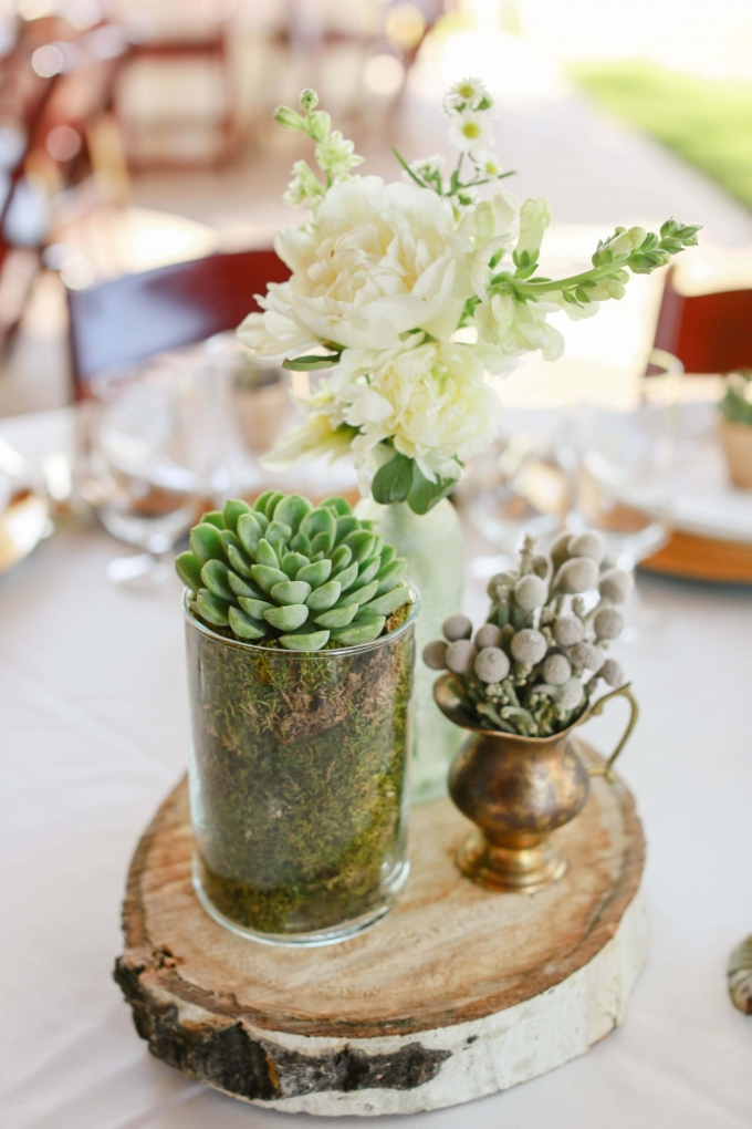 neutral centerpieces | Allee J. | Glamour & Grace