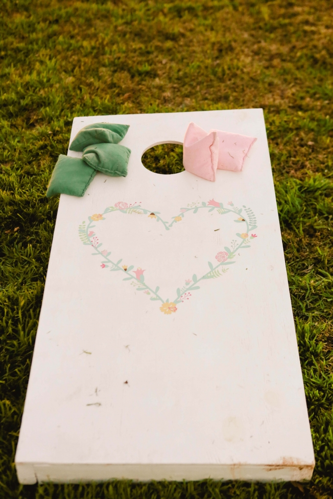 cute heart corn hole | Allee J. | Glamour & Grace