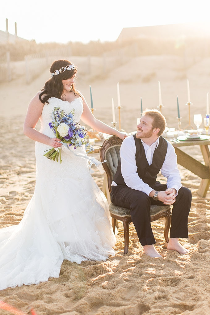 romantic seaside wedding inspiration | Amanda Hedgepeth Photography | Glamour & Grace