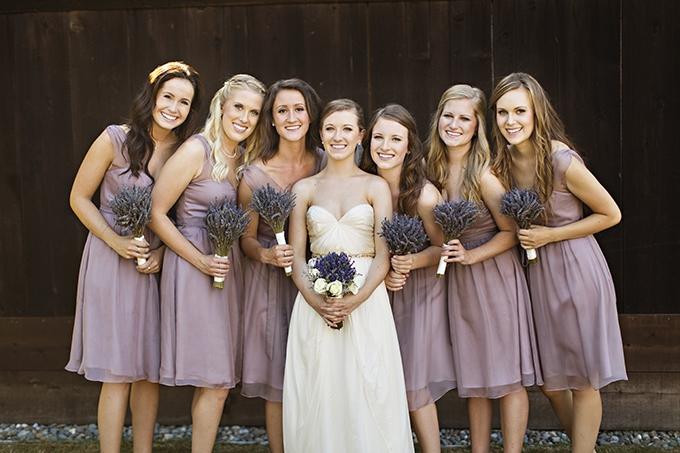 mauve bridesmaids | Courtney Bowlden Photography | Glamour & Grace