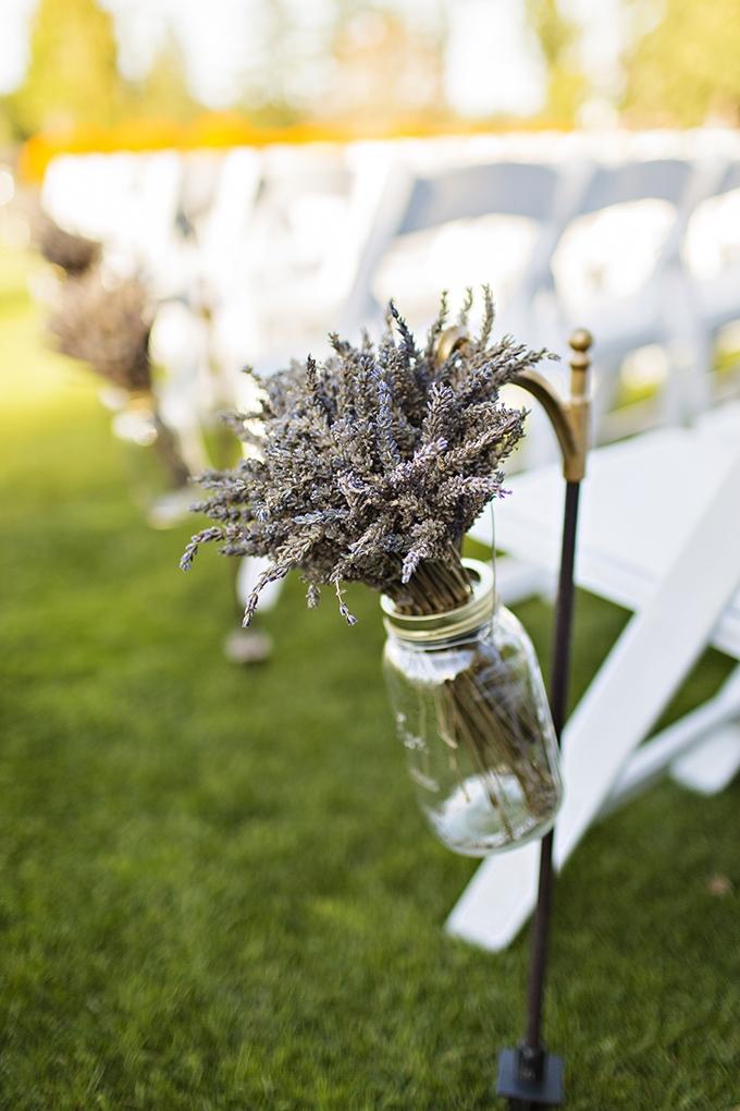 lavender aisle decor | Courtney Bowlden Photography | Glamour & Grace