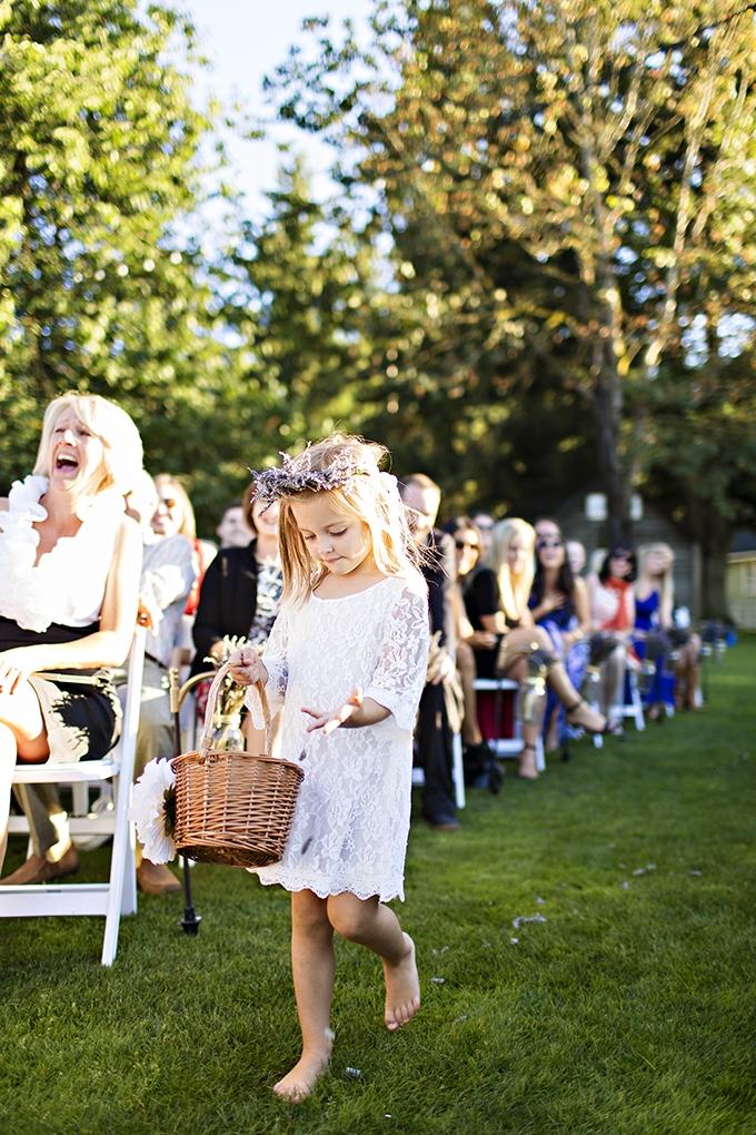 lavender flower girl | Courtney Bowlden Photography | Glamour & Grace