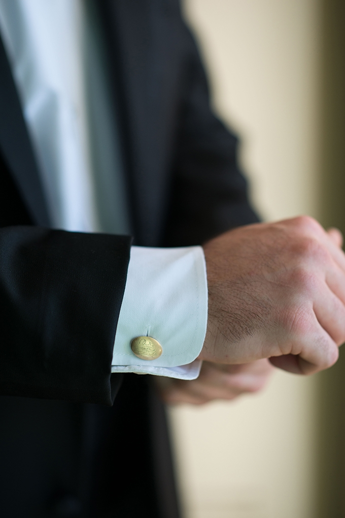 wearing grandfather's cufflinks | Stephanie A Smith Photography | Glamour & Grace