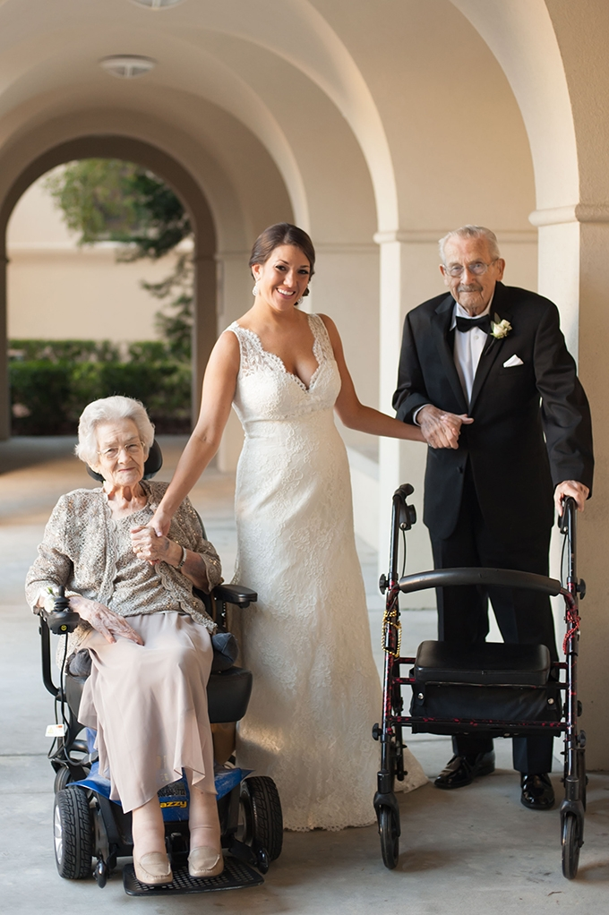 first look with grandparents | Stephanie A Smith Photography | Glamour & Grace