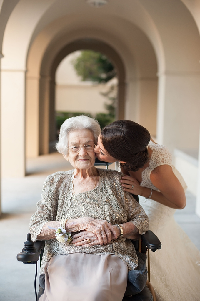 first look with grandma | Stephanie A Smith Photography | Glamour & Grace