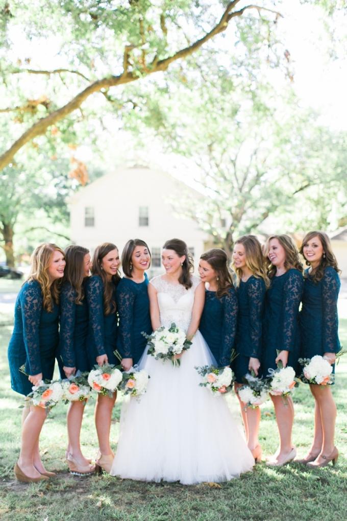 navy bridesmaids | Elisabeth Carol Photography | Glamour & Grace