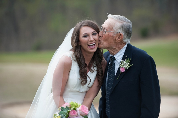 bride and grandpa | Stacy Richardson Photography | Glamour & Grace