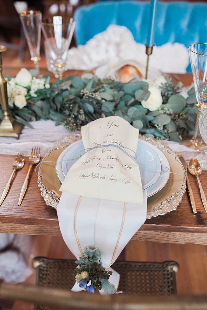 romantic place setting | Bridget Rochelle Photography | Glamour & Grace