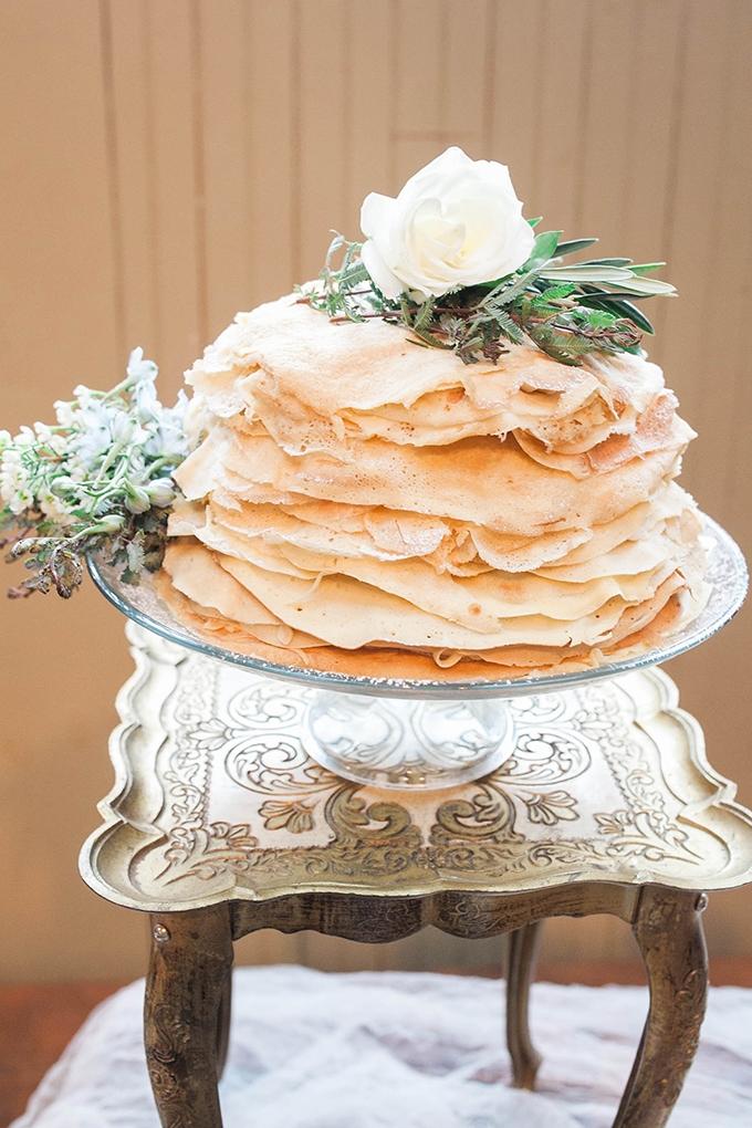 crepe cake | Bridget Rochelle Photography | Glamour & Grace