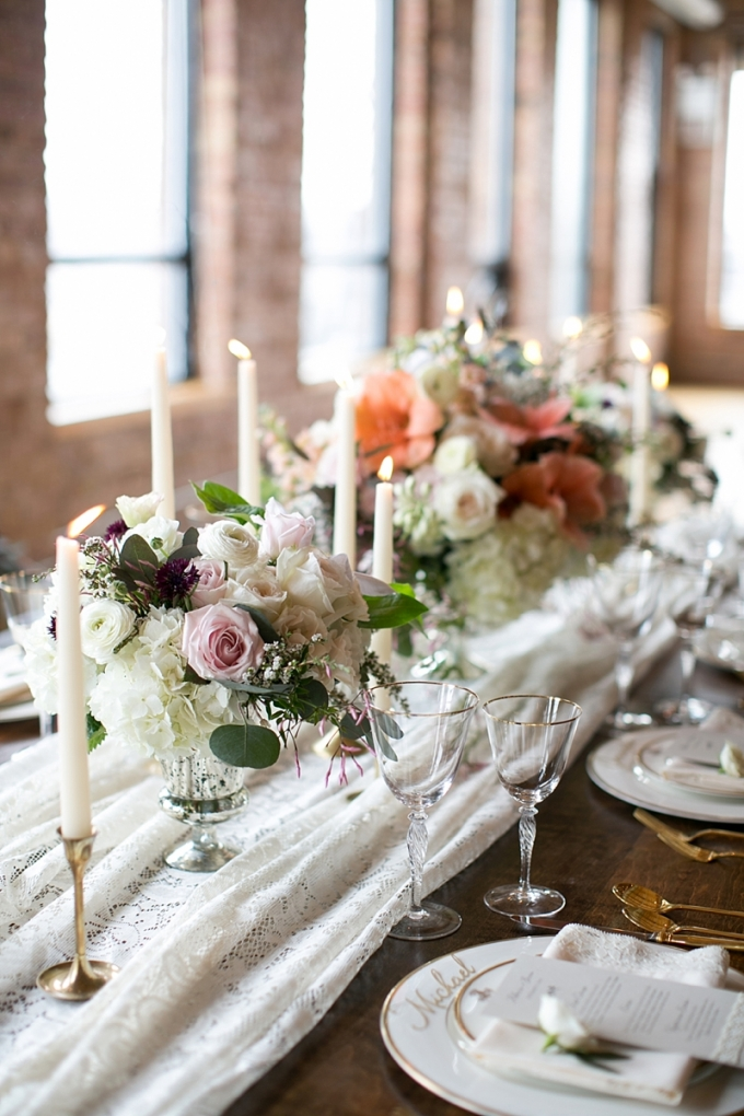 romantic vintage centerpiece | Christy Tyler Photography | Glamour & Grace