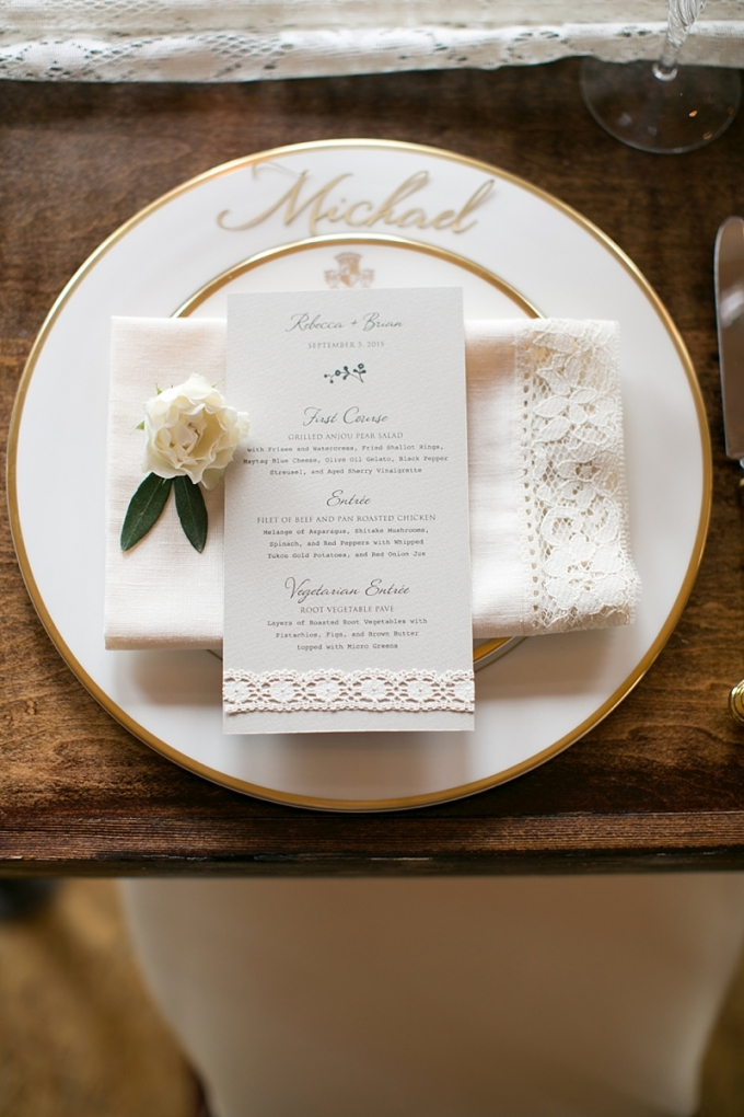elegant place setting | Christy Tyler Photography | Glamour & Grace