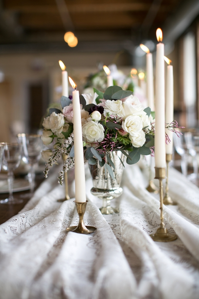 vintage centerpiece | Christy Tyler Photography | Glamour & Grace