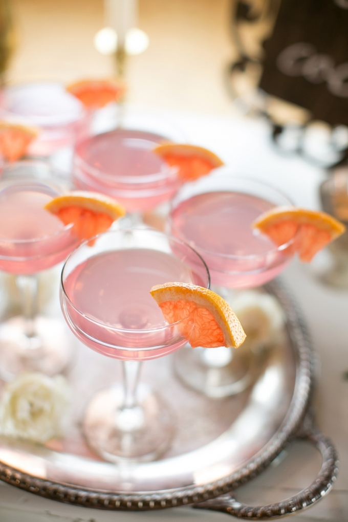 grapefruit cocktail | Christy Tyler Photography | Glamour & Grace