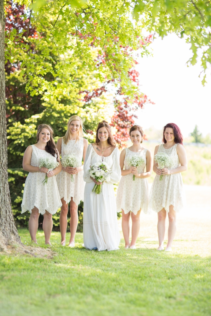 white bridesmaids | Morgan Lindsay Photography | Glamour & Grace