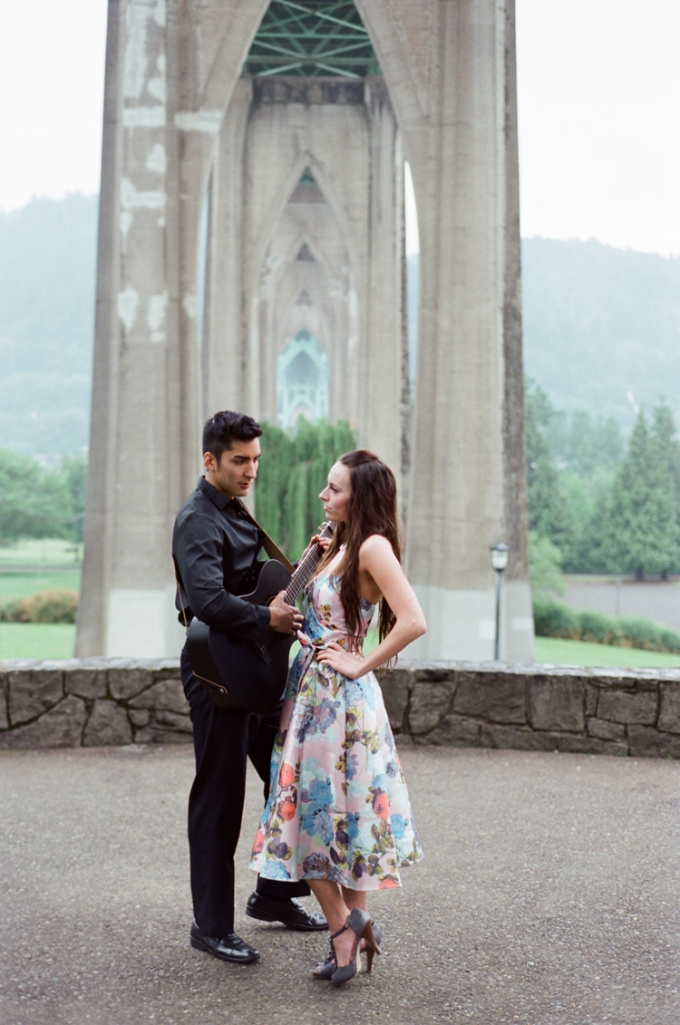 Johnny Cash inspired engagement | White Ivory Photography | Glamour & Grace