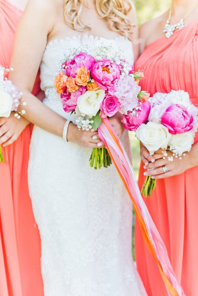 coral and pink bouquet   Kate Supa Photography    Glamour & Grace