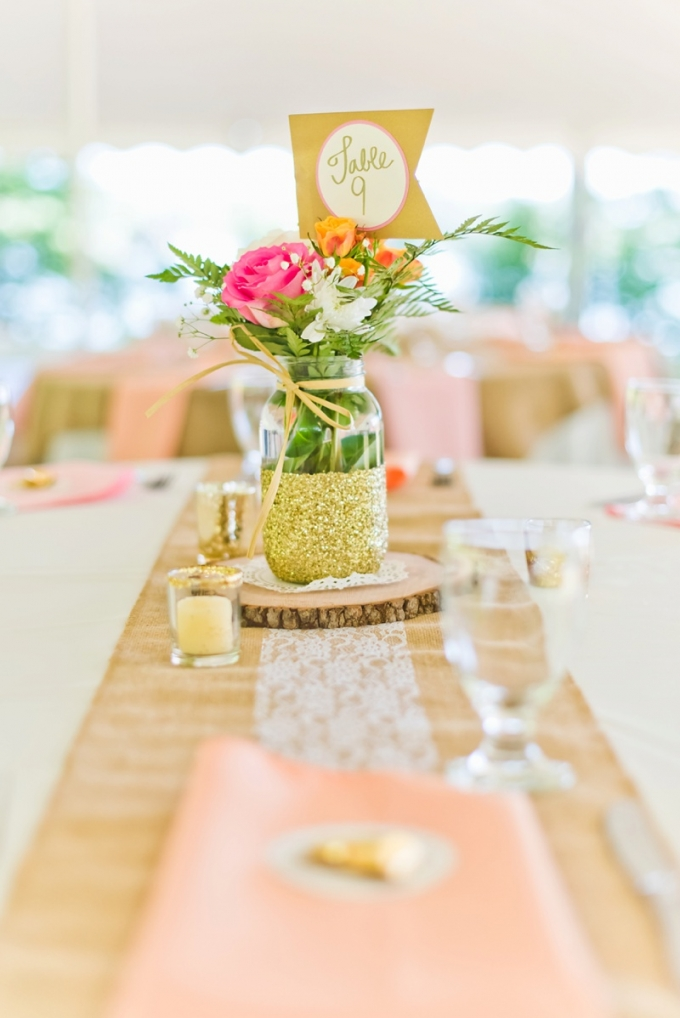 fun and colorful centerpiece | Kate Supa Photography  | Glamour & Grace