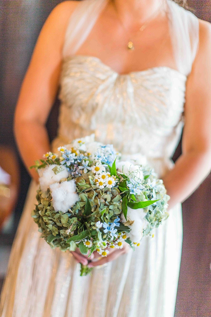blue and green bouquet | Blueberry Photography | Glamour & Grace