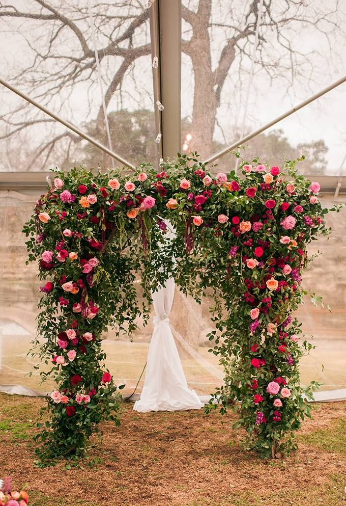 floral arch | The Bird & The Bear | Glamour & Grace