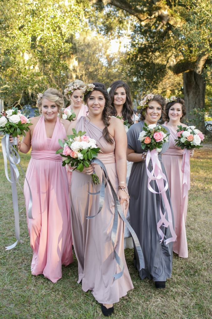dreamy bridesmaids | Greer Gattuso Photography | Glamour & Grace