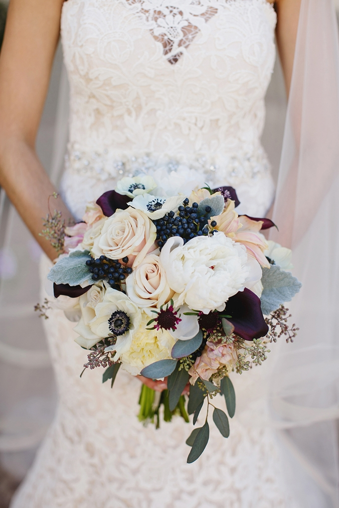 purple and blush bouquet   Greer G Photography   Glamour & Grace
