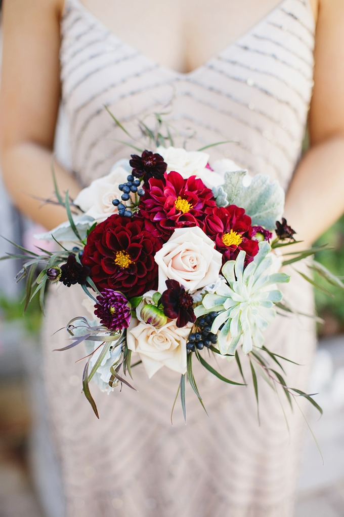 red bouquet   Greer G Photography   Glamour & Grace