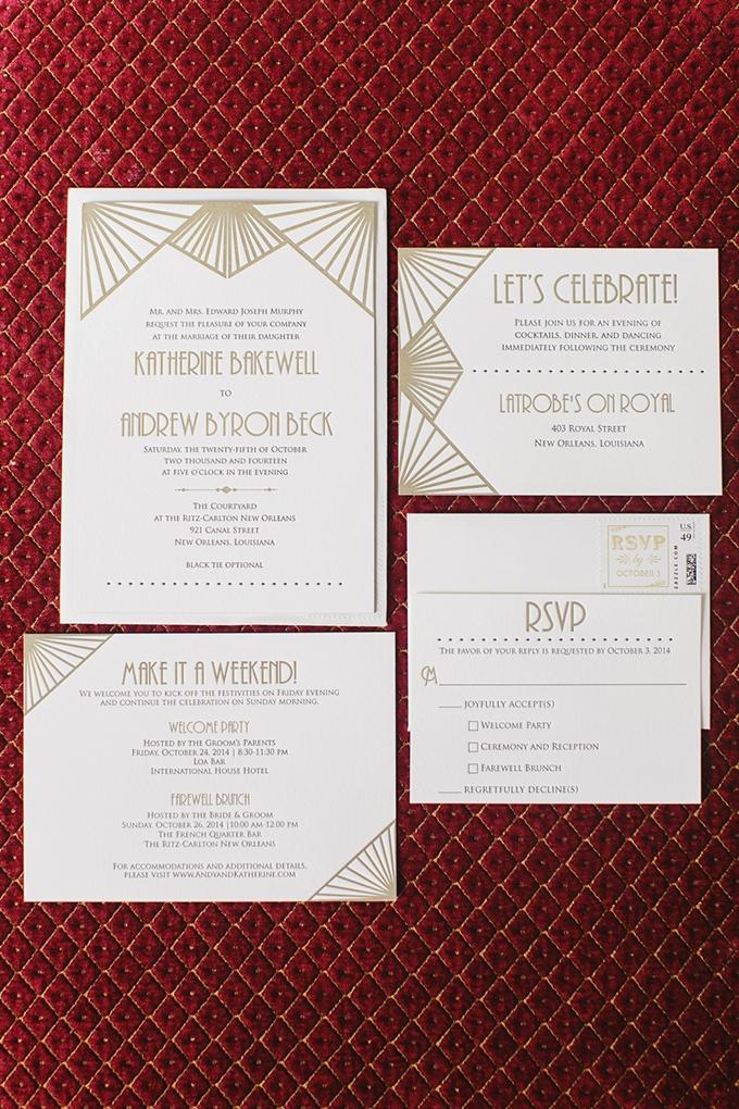 art deco wedding invitation   Greer G Photography   Glamour & Grace
